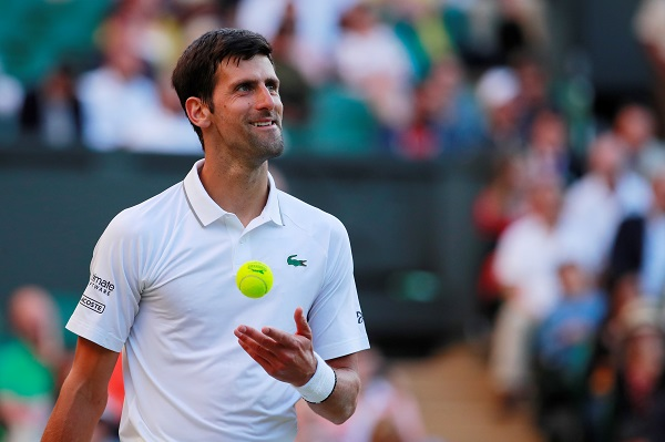 Tennis - Wimbledon - All England Lawn Tennis and Croquet Club, London, Britain - July 3, 2019 Serbia's Novak Djokovic celebrates winning his second round match against Denis Kudla of the US (Photo: REUTERS/Andrew Couldridge).