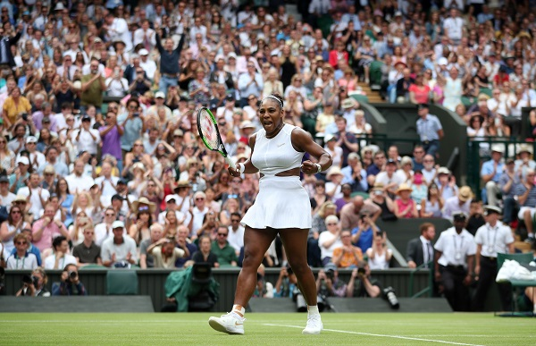 Tennis - Wimbledon - All England Lawn Tennis and Croquet Club, London, Britain - July 9, 2019 Serena Williams of the US celebrates winning her quarter final match against Alison Riske of the US (Photo: REUTERS/Hannah McKay).