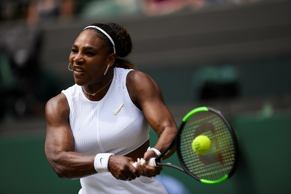 Tennis - Wimbledon - All England Lawn Tennis and Croquet Club, London, Britain - July 8, 2019 Serena Williams of the US in action during her fourth round match against Spain's Carla Suarez Navarro (Photo: REUTERS/Tony O'Brien).