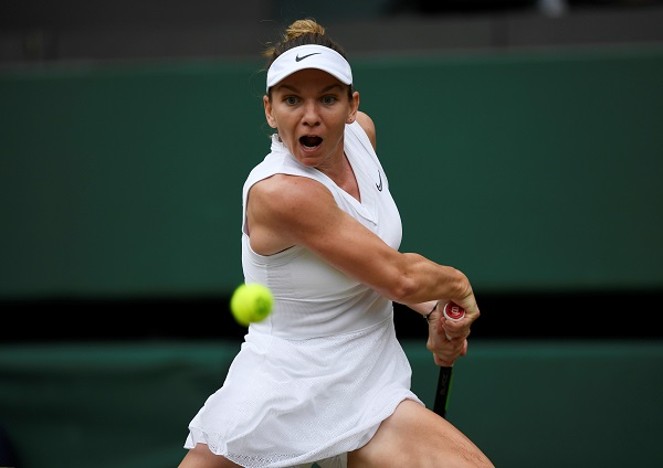 Tennis - Wimbledon - All England Lawn Tennis and Croquet Club, London, Britain - July 9, 2019 Romania's Simona Halep in action during her quarter final match against China's Zhang Shuai (Photo: REUTERS/Tony O'Brien).