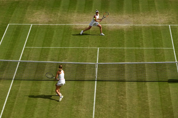 Tennis - Wimbledon - All England Lawn Tennis and Croquet Club, London, Britain - July 9, 2019 Czech Republic's Karolina Muchova in action during her quarter final match against Ukraine's Elina Svitolina (Photo: REUTERS/Tony O'Brien).