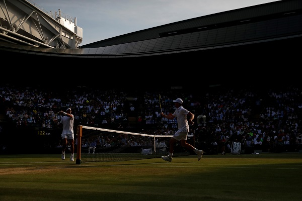 Tennis - Wimbledon - All England Lawn Tennis and Croquet Club, London, Britain - July 10, 2019 Spain's Rafael Nadal in action during his quarter final match against Sam Querrey of the US (Photo: REUTERS/Carl Recine).