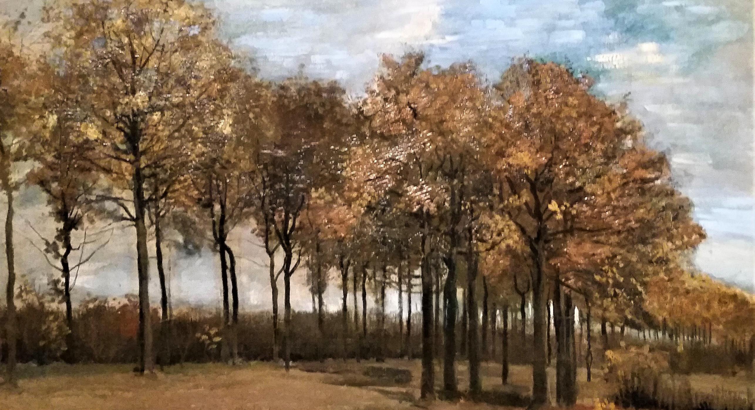Vincent Van Gogh's Autumn Landscape Nuenen October 1885