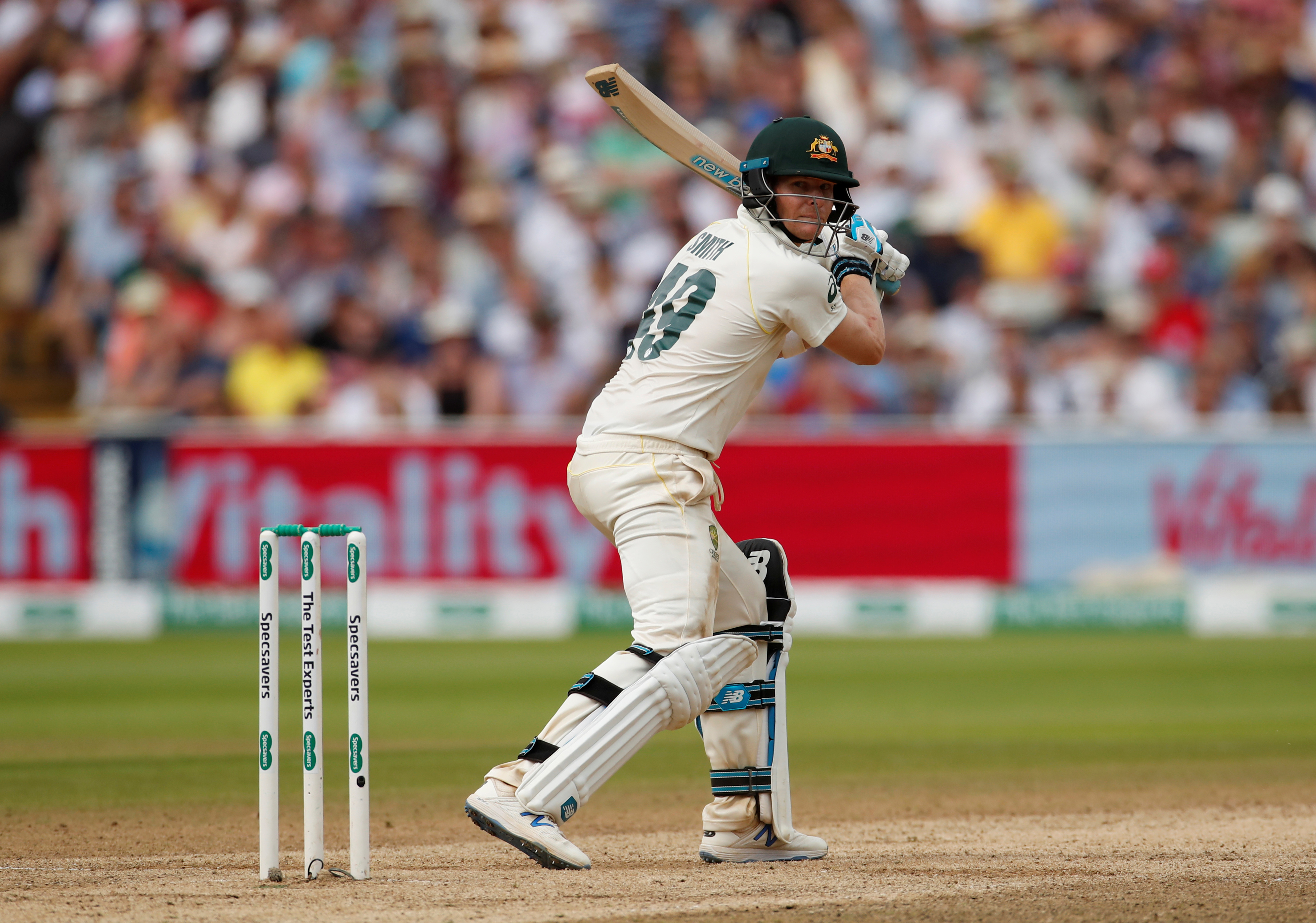 Cricket - Ashes 2019 - First Test - England v Australia - Edgbaston, Birmingham, Britain - August 4, 2019   Australia's Steve Smith reacts as he is caught out by England's Jonny Bairstow off the bowling of Chris Woakes    Action Images via Reuters/Andrew Boyers