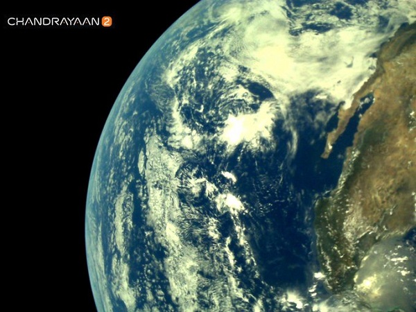 After four weeks in space, the craft completed its Lunar Orbit Insertion as planned, the Indian Space Research Organisation (ISRO) said in a statement (Photo: Earth as viewed by Chandrayaan 2 spacecraft. @isro Twitter).