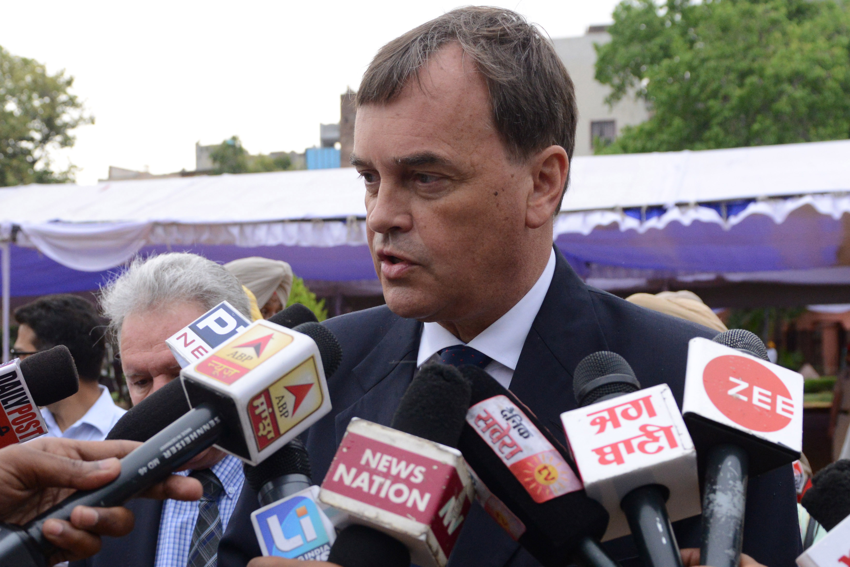 British High Commissioner to India Dominic Asquith  (Photo by NARINDER NANU / AFP)