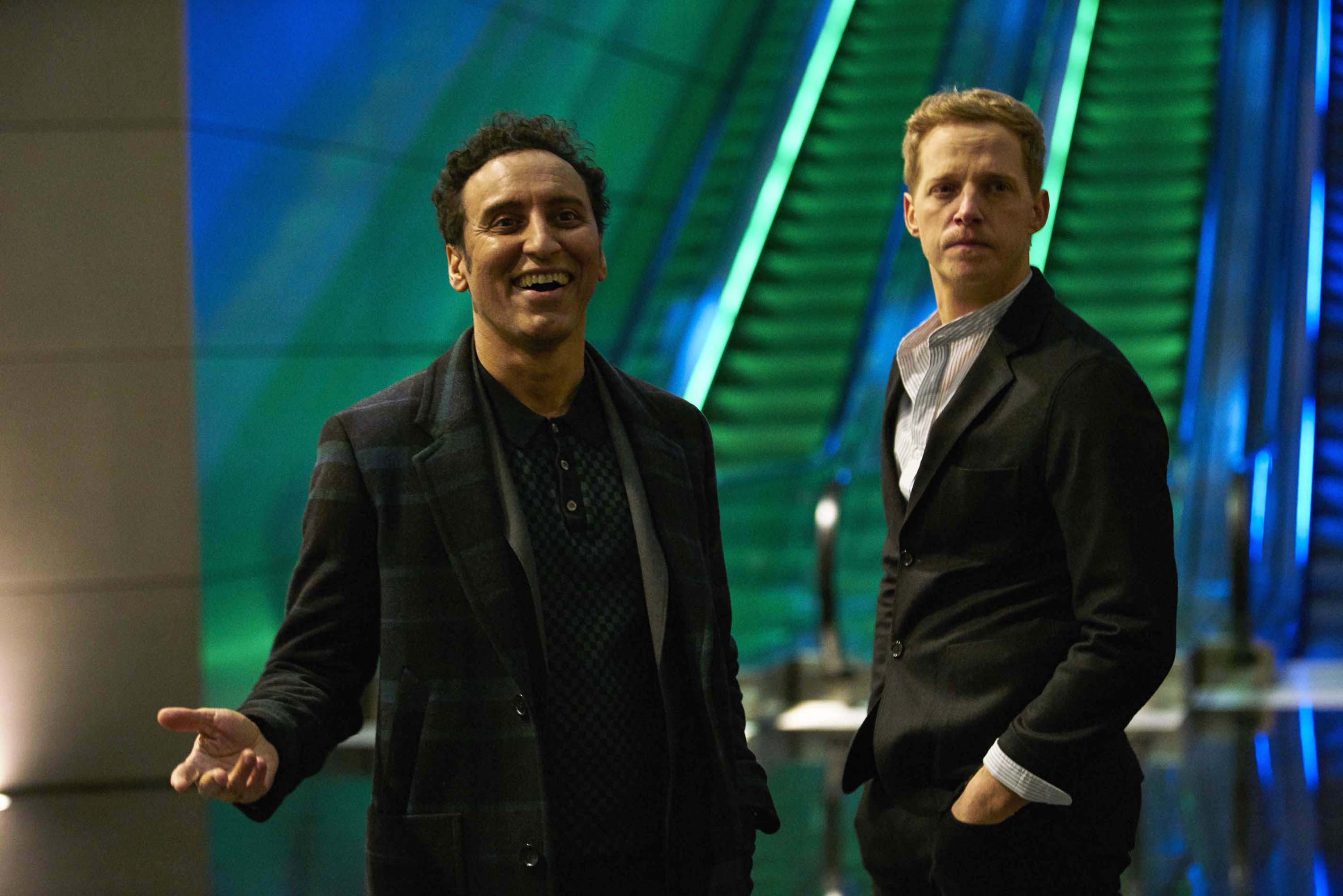 COMIC RELIEF: Aasif Mandvi (left) with co-star Chris Geere in a scene from This Way Up