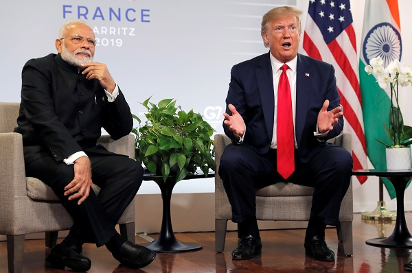 Narendra Modi and Donald Trump (REUTERS/Carlos Barria).
