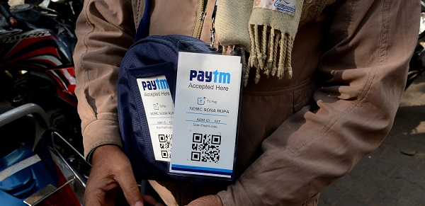 Digital payments company Paytm, owned by One 97 Communications, will pay Rs 3.27 billion ($45.78 million) for the 2019-23 period to the BCCI, which is the richest national cricket board in the world (Photo: MONEY SHARMA/AFP/Getty Images).