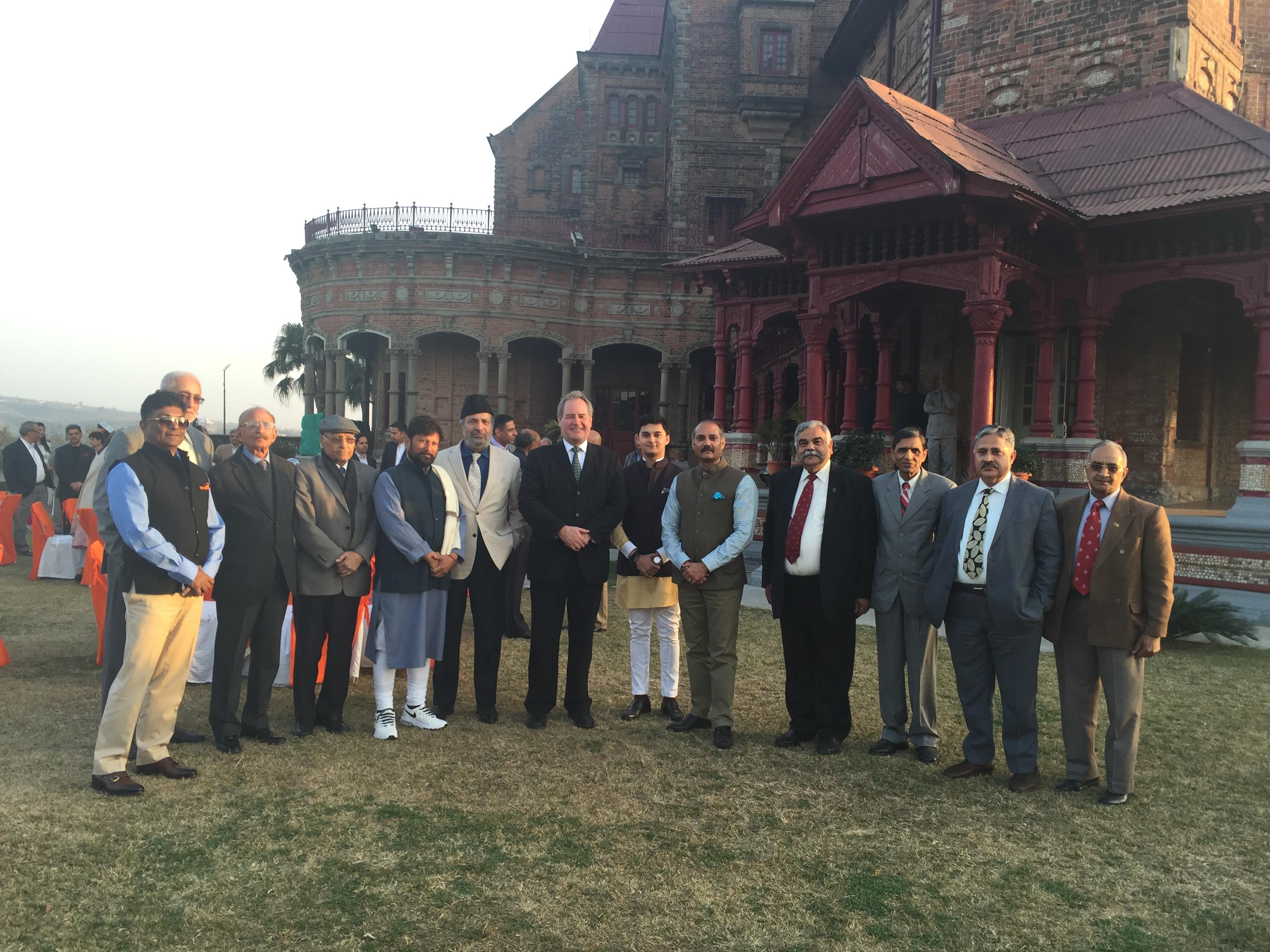 Bob Blackman during his visit to Srinigar