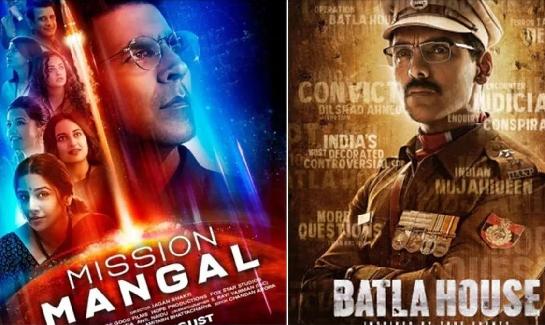 Mission Mangal & Batla House Posters