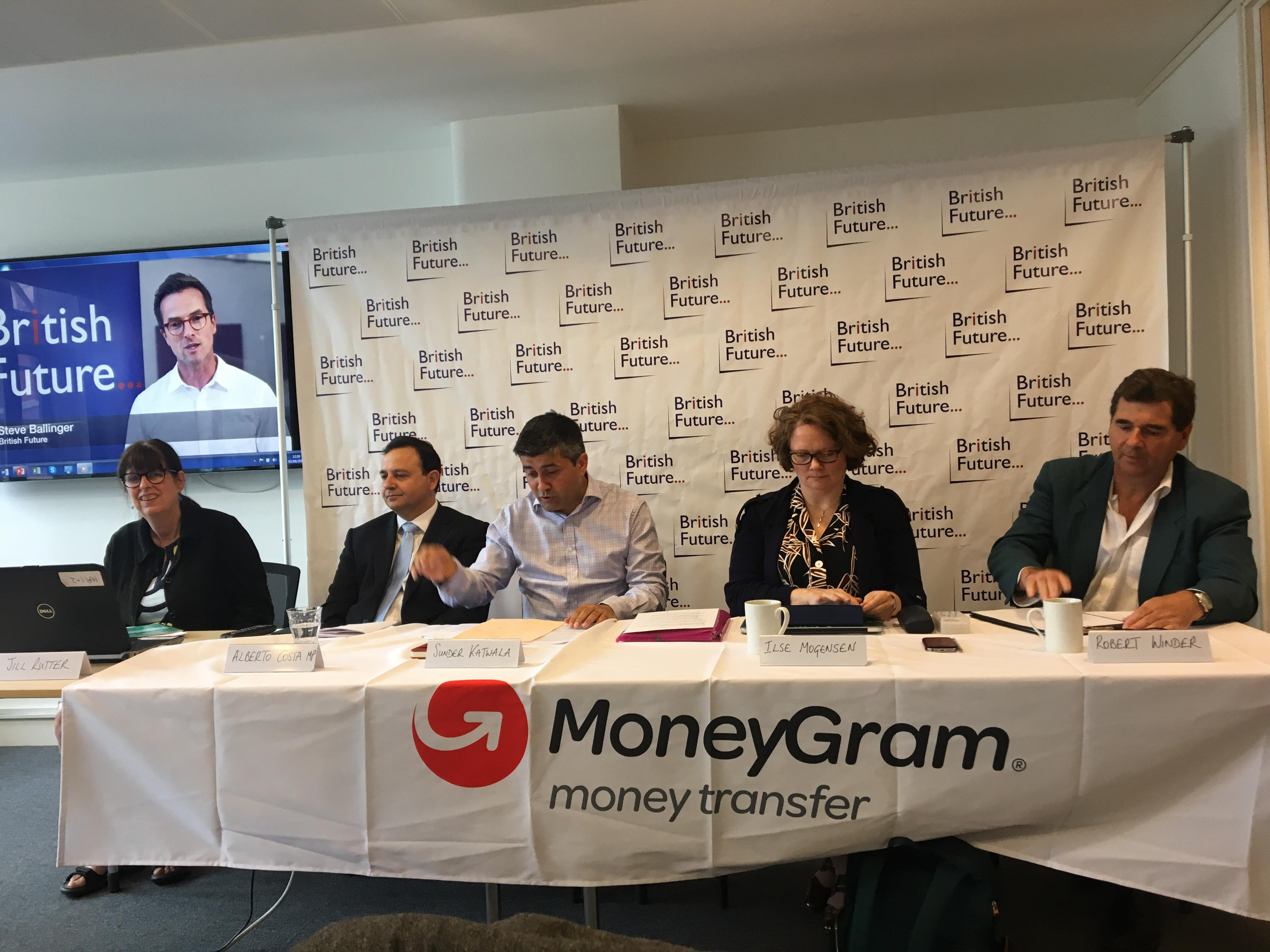 PASSPORT CONTROL: (From left) Jill Rutter, Alberto Costa MP, Sunder Katwala, Ilse Mogensen and Robert Winder at the Citizenship Inquiry launch on Tuesday (3)