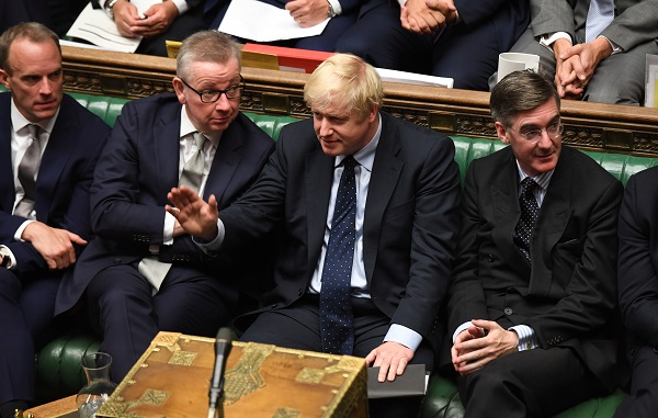 """""""We agreed to strengthen our cooperation, not just on the security side- where clearly the UK and India stand shoulder to shoulder in the fight against terror- but also in military cooperation in the Asia-Pacific region, where we share many interests,"""" Johnson noted (Photo: ©UK Parliament/Jessica Taylor/Handout via REUTERS)."""