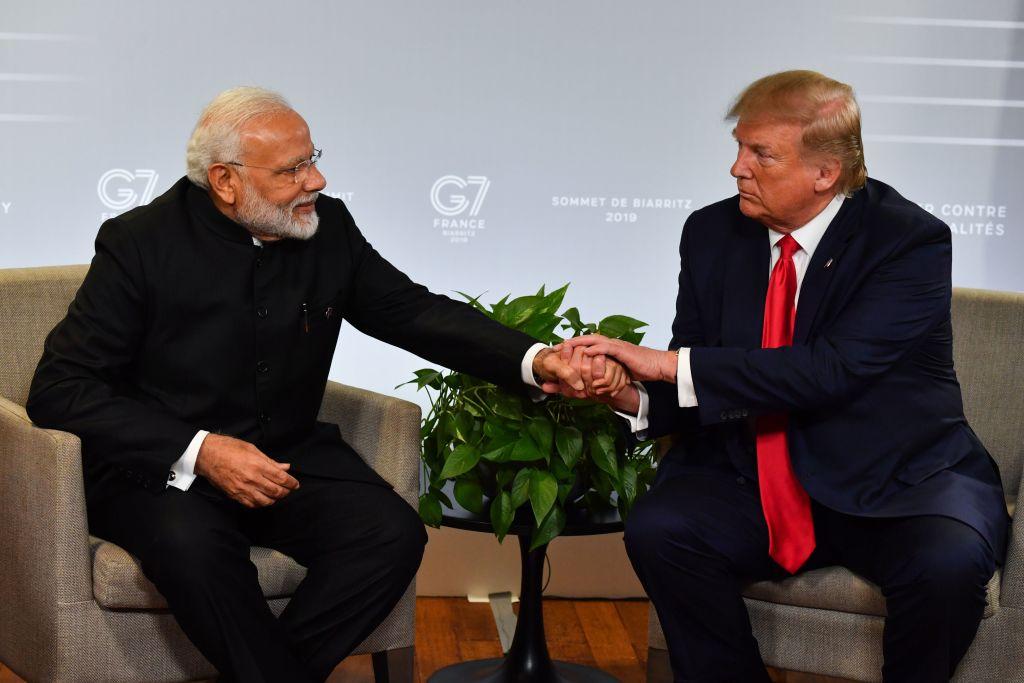 Indian prime minister Narendra Modi (L) and US president Donald Trump  (Photo: NICHOLAS KAMM/AFP/Getty Images)