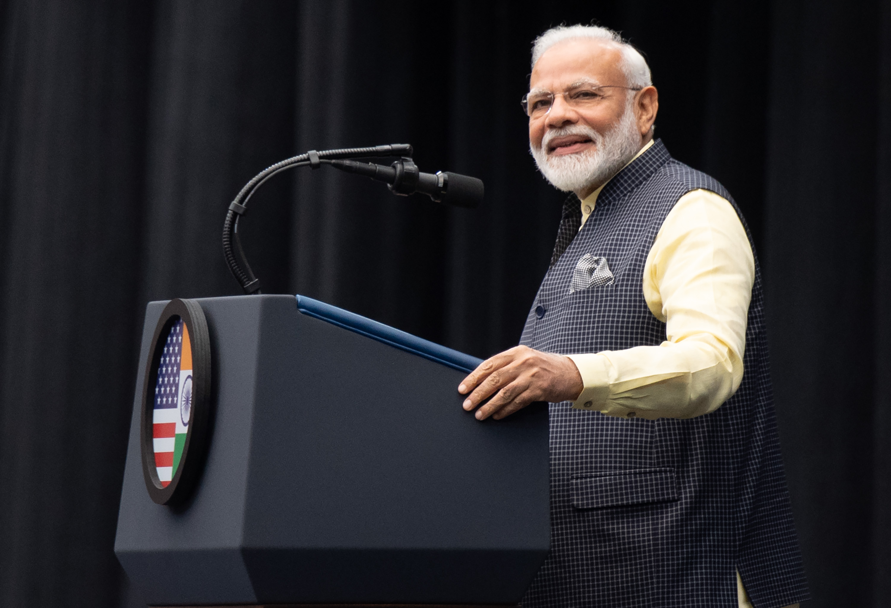 Indian Prime Minister Narendra Modi attend (SAUL LOEB/AFP/Getty Images)