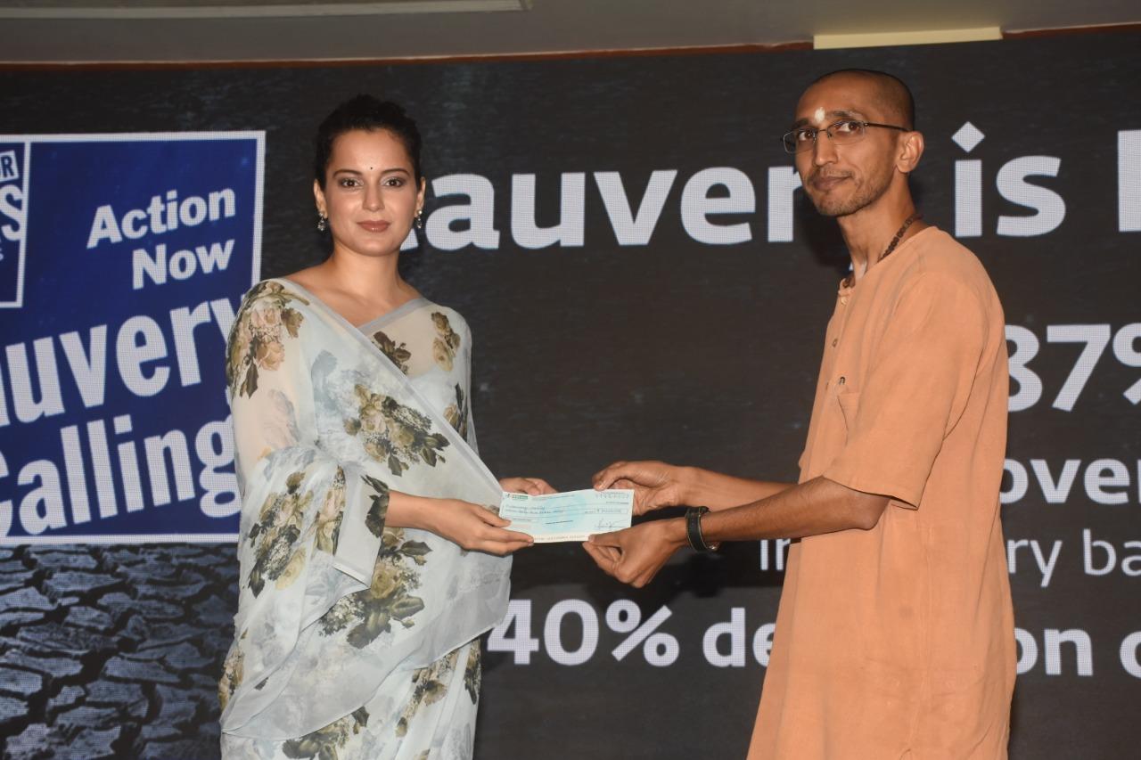 Kangana Ranaut donates Rs 42 lakh to Isha Foundation for Cauvery Calling initiative
