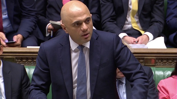 """After a decade of recovery from Labour's great recession, we are turning the page on austerity and beginning a new decade of renewal,"" Javid said in parliament on Wednesday (4), taking aim at the opposition Labour Party (Parliament TV via REUTERS)."