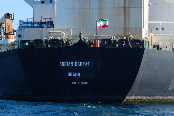 The Adrian Darya 1 was held for six weeks by the British overseas territory of Gibraltar on suspicion that it was set to deliver oil from Iran to its main Arab ally Syria- a violation of European Union sanctions on president Bashar al-Assad's iron-fisted regime (Photo: JOHNNY BUGEJA/AFP/Getty Images).