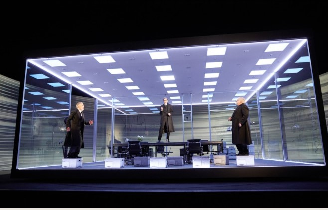 Simon Russell Beale, Ben Miles and Adam Godley in The Lehman Trilogy.