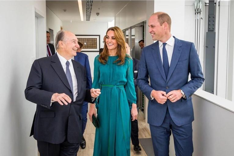 Duke and Duchess of Cambridge meet the Aga Khan in London