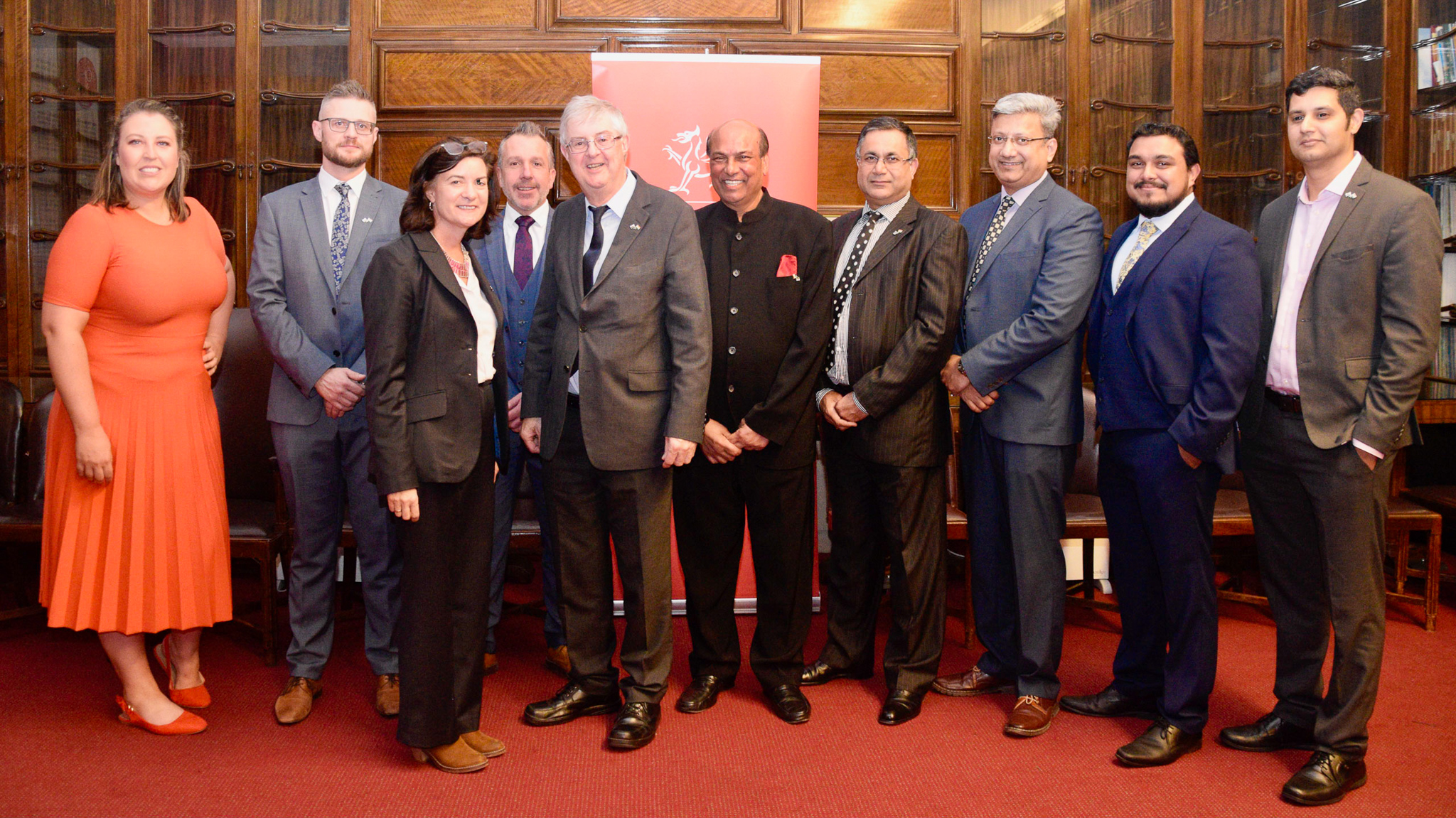 Dignitaries at the Divali event in Cardiff (Photo:  HCIWales.in)