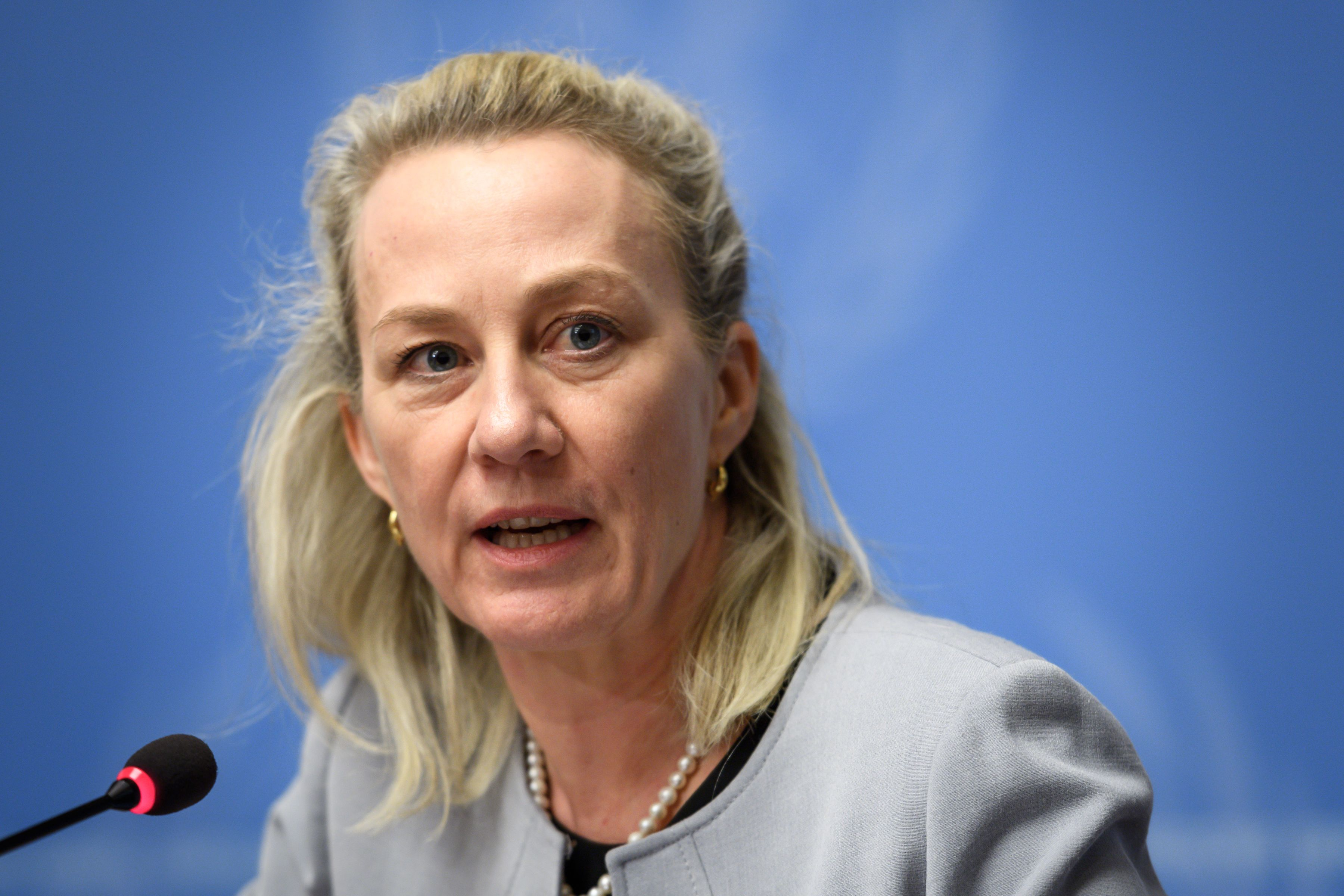 Alice Wells, the assistant secretary of state for South Asia (Photo by Fabrice COFFRINI / AFP)