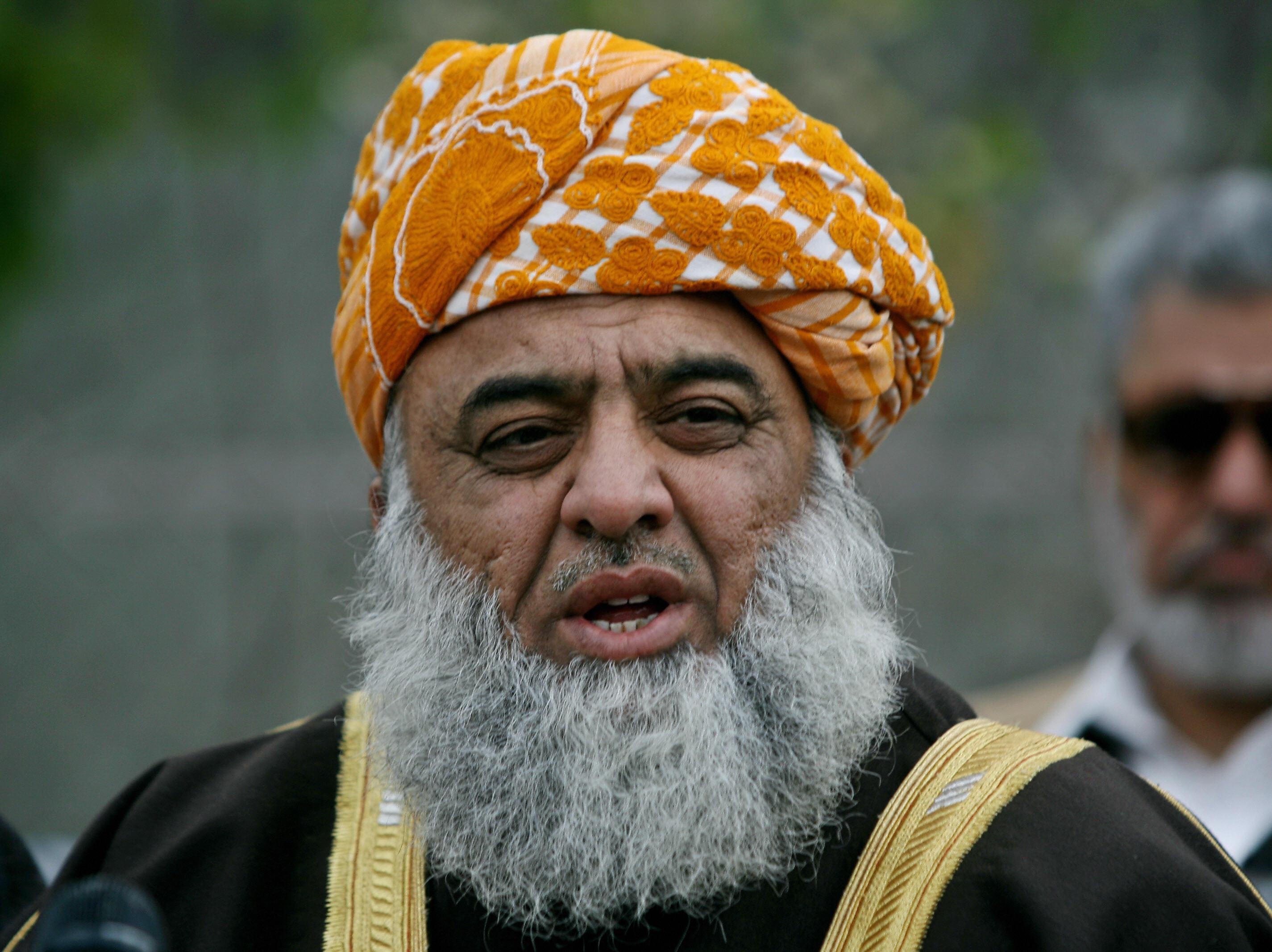 Pakistani Islamist politician Maulana Fazlur Rehman  (AFP PHOTO/Farooq NAEEM