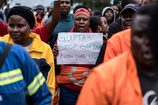 """The US Treasury has said the Gupta family were """"members of a significant corruption network and it leveraged overpayments on government contracts, bribery and other corrupt acts to fund political contributions and influence government actions"""" (Photo: MARCO LONGARI/AFP/Getty Images)."""