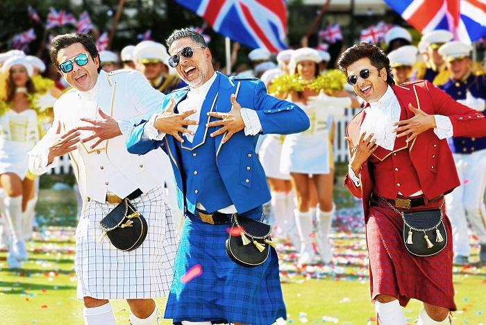 COMIC ZONE: (From left) Bobby Deol, Akshay Kumar and Riteish Deshmukh in Housefull 4