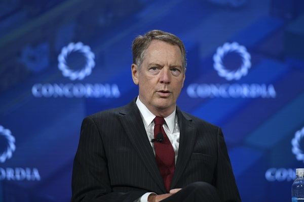 NEW YORK, NY - SEPTEMBER 25:  United States Trade Representative at the Executive Office of the President Amb. Robert Lighthizer speaks onstage during the 2018 Concordia Annual Summit - Day 2 at Grand Hyatt New York on September 25, 2018 in New York City.  (Photo by Riccardo Savi/Getty Images for Concordia Summit)