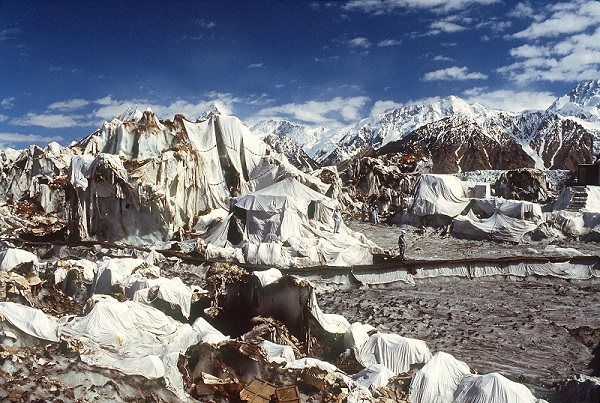 The Siachen Glacier at the height of around 20,000 feet (ft) in the Karakoram range is known as the highest militarised zone in the world where the soldiers have to battle frostbite and high winds  (Photo: ANNIRUDHA MOOKERJEE/AFP via Getty Images).