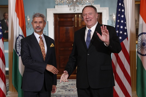 US Secretary Of State Mike Pompeo (R) meets with Indian External Affairs Minister Subrahmanyam Jaishankar at the US Department of State on September 30, 2019 in Washington, DC (Photo: Tom Brenner/Getty Images).