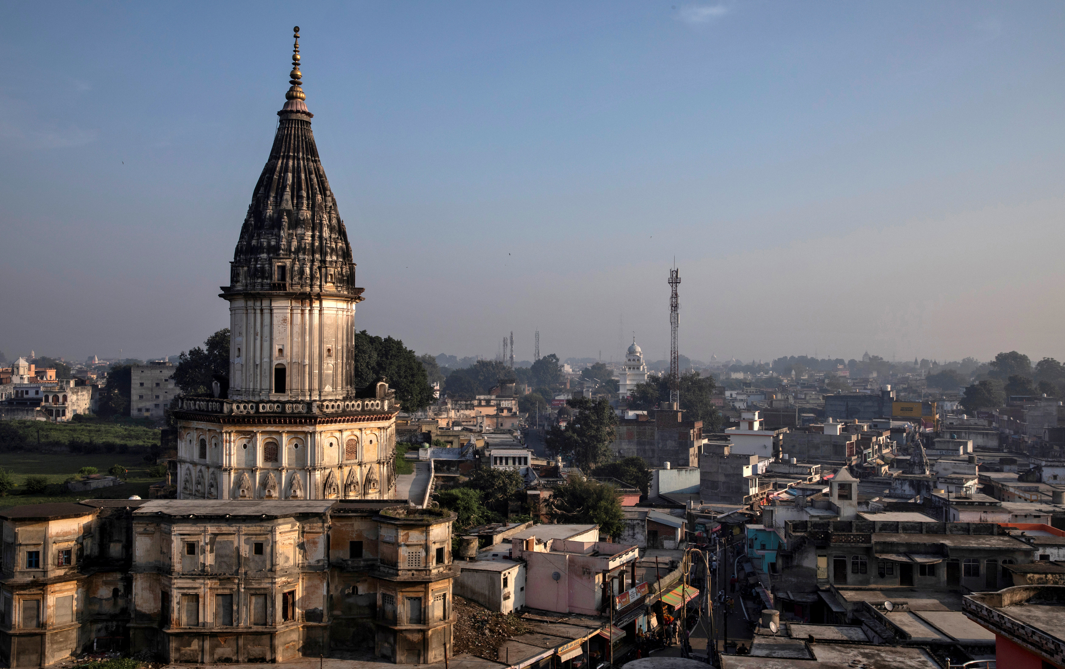 A general view of Ayodhya city, India, October 22, 2019. REUTERS/Danish Siddiqui