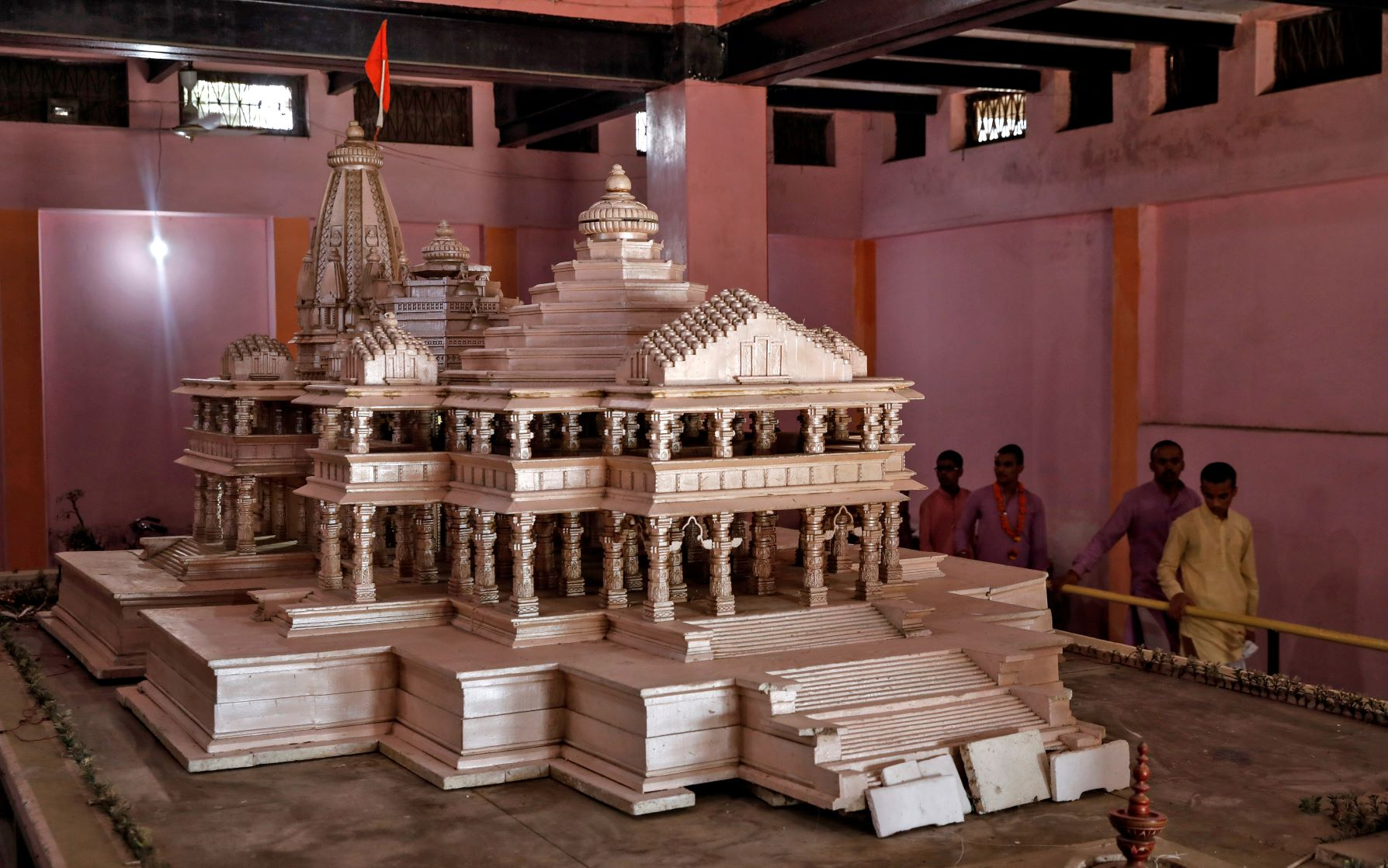 A proposed model of the Ram temple in Ayodhya