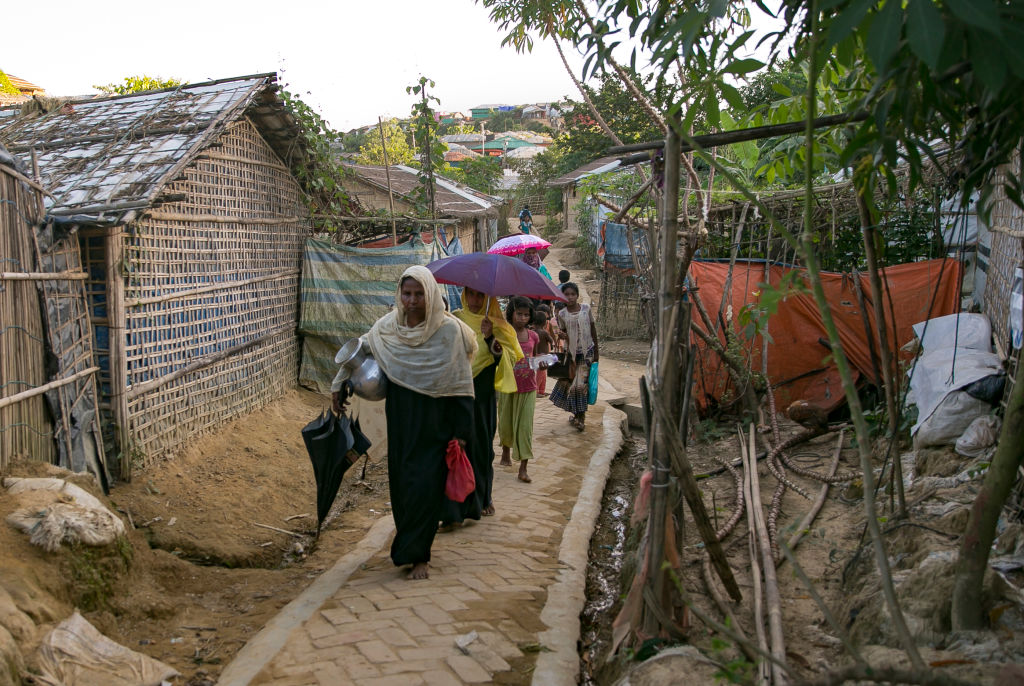Rohingya refugees are seen in a refugee camp  (Photo by Allison Joyce/Getty Images)