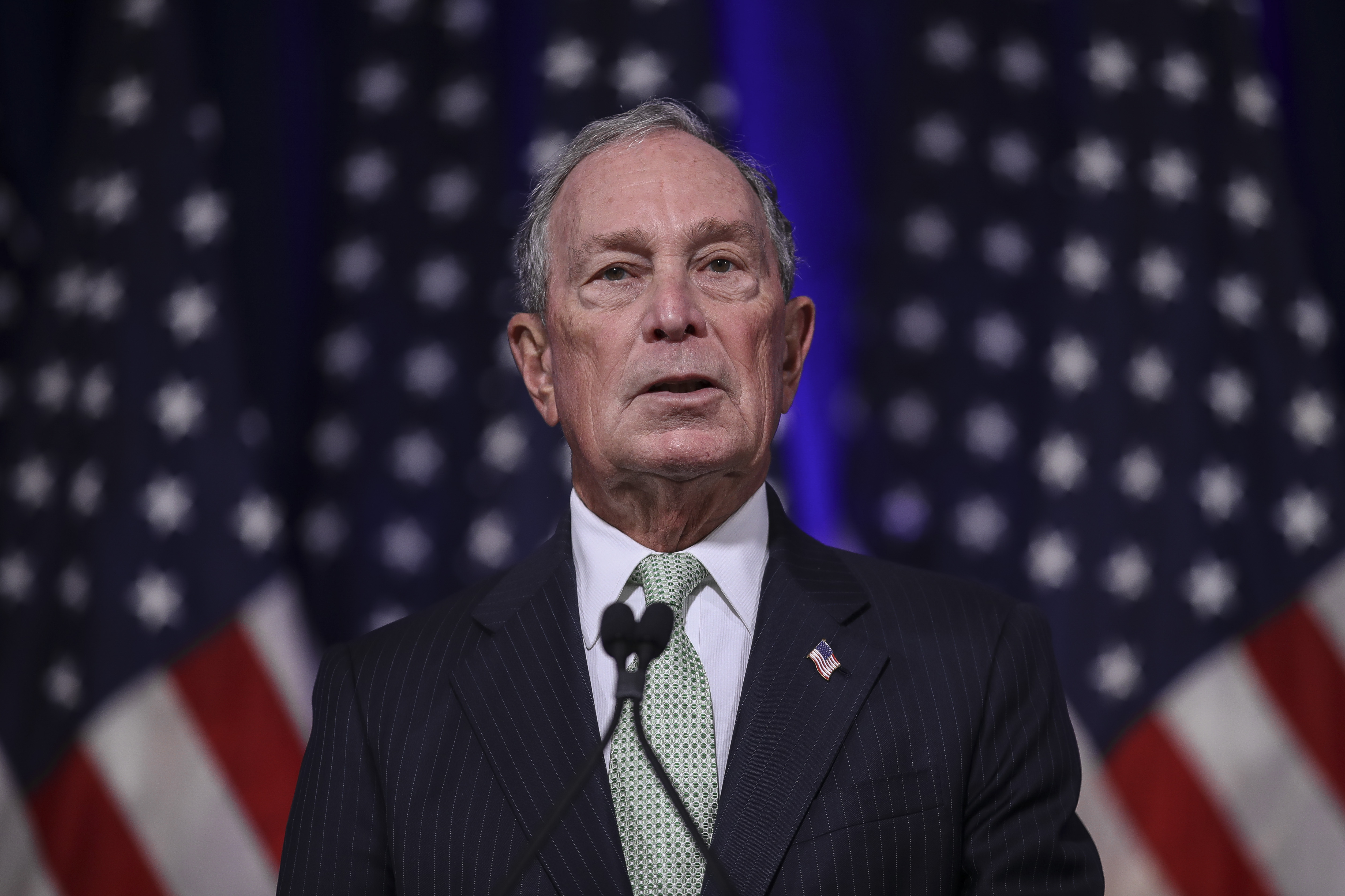 Democratic presidential candidate, former New York Mayor Michael Bloomberg (Photo by Drew Angerer/Getty Images)