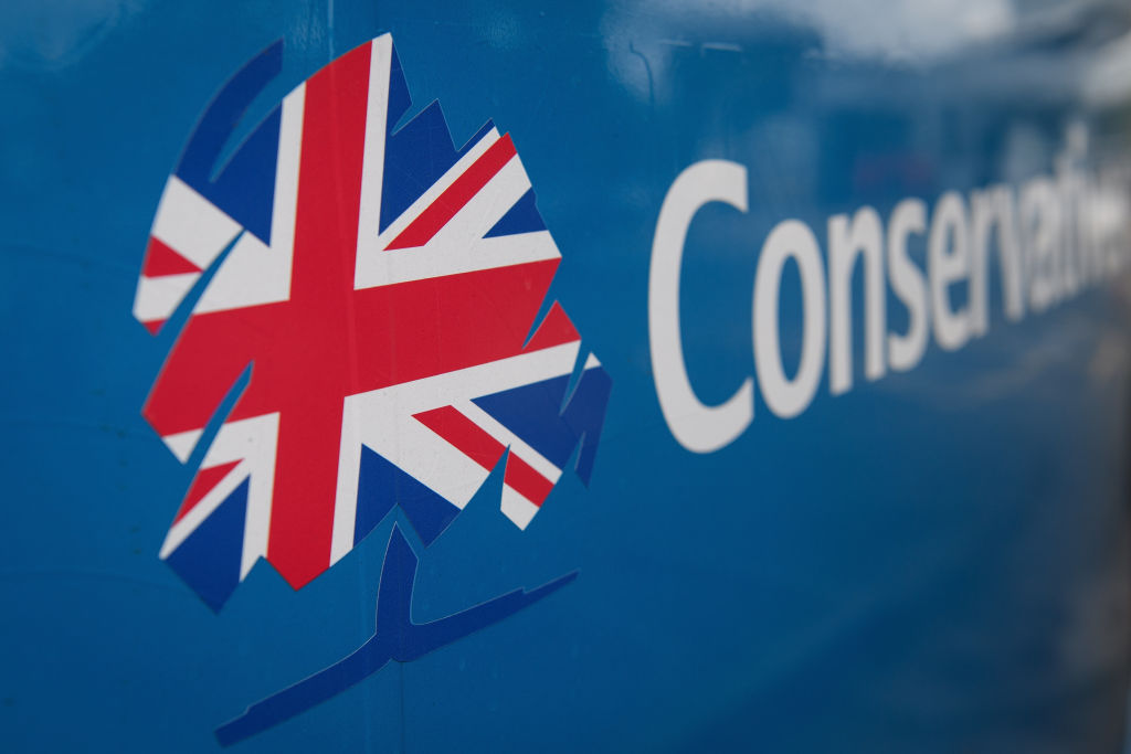 The Conservative party logo    (Photo by Leon Neal/Getty Images)