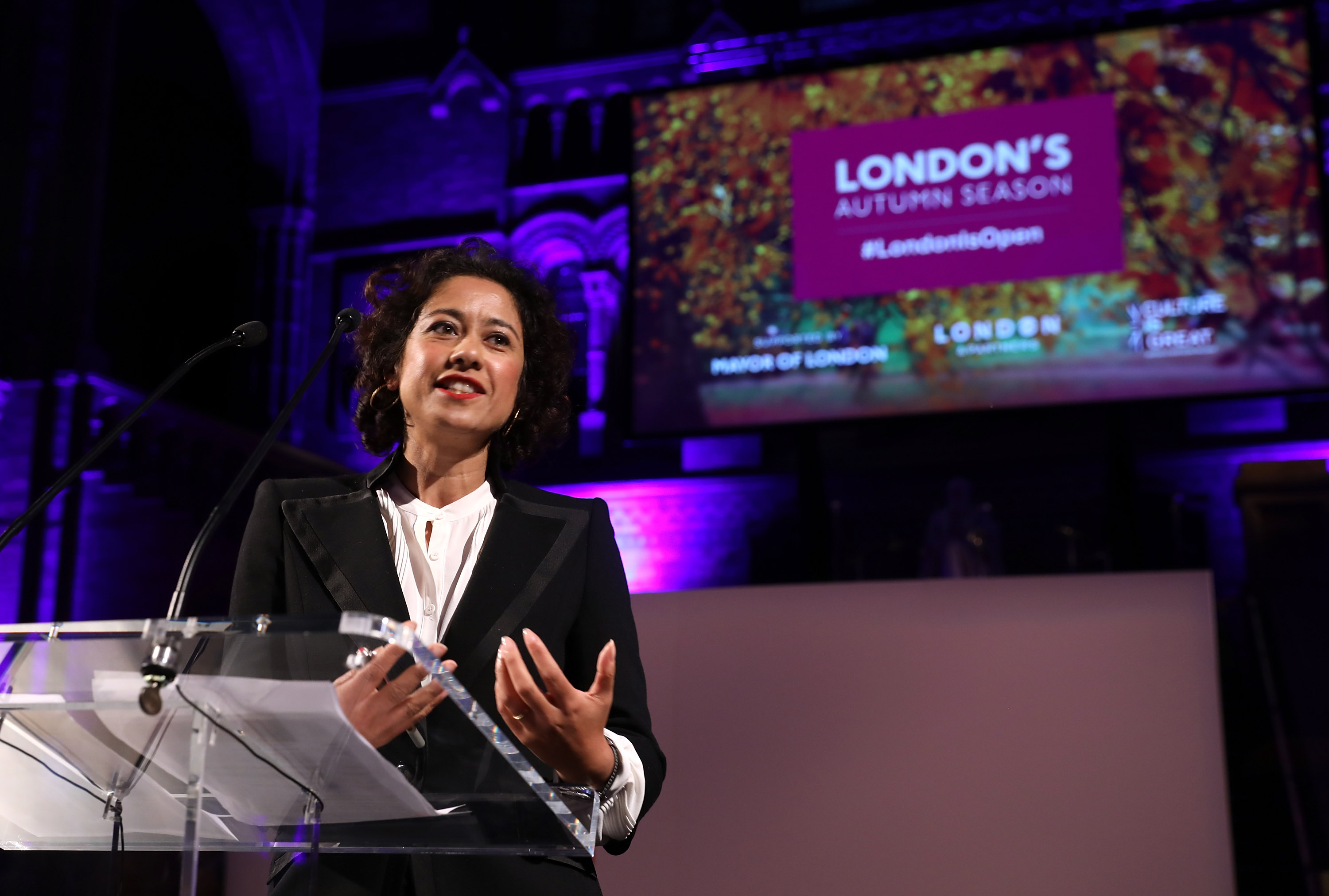 Journalist and broadcaster Samira Ahmed  (Photo by Tim P. Whitby/Tim P. Whitby/Getty Images)