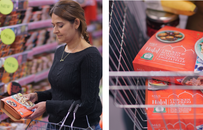 The new halal-prepared meal range will help M&S deliver a better localised offer in 36 M&S food stores across the UK. It will also be sold by M&S' international franchise partner Al-Futtaim in other markets, including Singapore and Dubai (Photo: M&S FOOD).