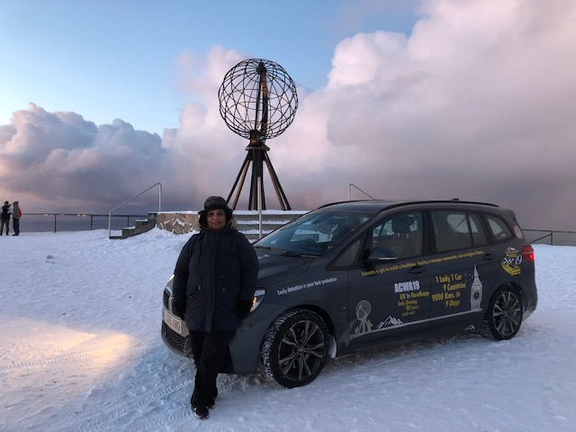 Bharulata Patel-Kamble embarked on the Arctic Circle Winter Adventure Challenge earlier this month