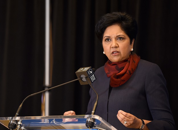 """To be an immigrant, a South Asian immigrant of colour, a woman to be included in the Portrait Gallery... it really says that we are the country where people look for the people who make a positive impact and celebrate them,"" Nooyi, 64, told reporters during the portrait gallery induction ceremony on Sunday (17) (Photo: Dimitrios Kambouris/Getty Images)."