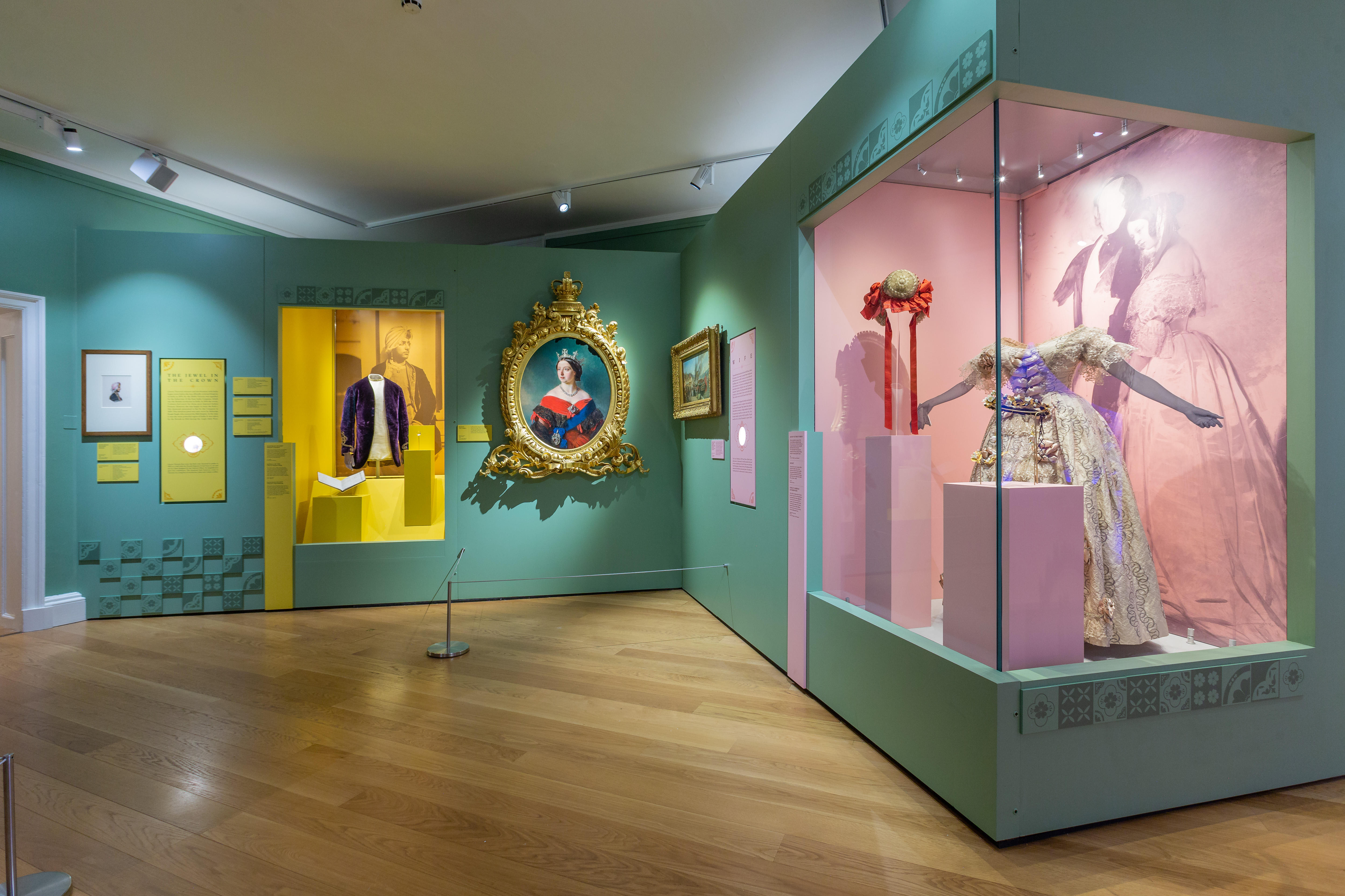 APPRECIATION: Items on display at Kensington Palace include Duleep Singh's jacket (left) and Queen Victoria wearing the Kohinoor diamond (middle)