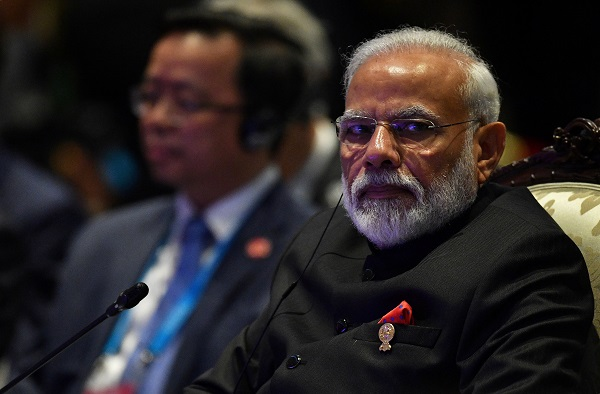 India's prime minister Narendra Modi attends the East Asia Summit (EAS) in Bangkok, Thailand, November 4, 2019 (REUTERS/Chalinee Thirasupa).