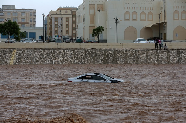 The incident happened in the Seeb area of Muscat following heavy rain on Sunday (10), the Indian Embassy in Muscat said. The rescue team took nearly 12 hours to recover the bodies, the Muscat Daily reported (Photo: MOHAMMED MAHJOUB/AFP via Getty Images).