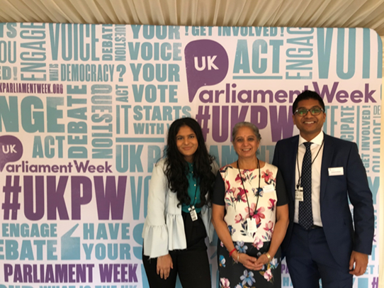 Sanah Kashyap, Dr Harsha Jani, Vishal Shah at UK PW Launch Event on October 15, 2019.