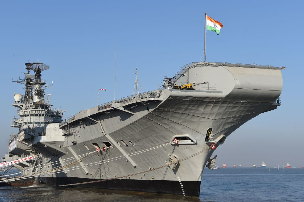 Indian aircraft carrier INS Viraat  (Photo: INDRANIL MUKHERJEE/AFP via Getty Images)