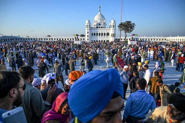 """""""This is the first incident in which an Indian Sikh woman attempted to leave the restricted area of the Kartarpur corridor since its opening on November 9,"""" a senior official of the Evacuee Trust Property Board (ETPB) said (Photo: AAMIR QURESHI/AFP via Getty Images)."""