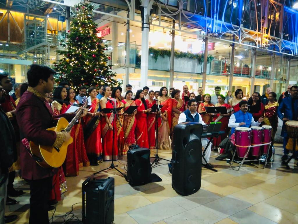 ON TRACK: Marathi Christi Mandal UK perform Carols for Christmas at Paddington