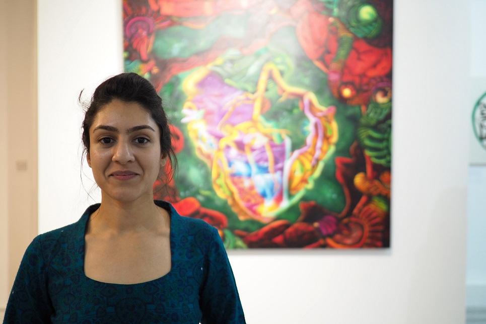 ART ATTACK: Amina Malik (Photo: implausibleblog)