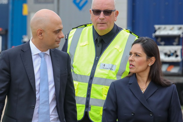 Sajid Javid (L), Priti Patel (Photo: ALEX LENTATI/AFP via Getty Images).